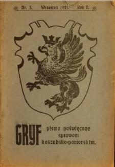Gryf : pismo poświęcone sprawom kaszubsko-pomorskim, 1921, nr 3
