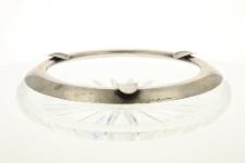 Popielnica kryształowa ze zdobieniami ze srebra