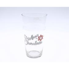 Szklanka do piwa o pojemności 0,2 litra ze znakiem firmowym browaru Stern