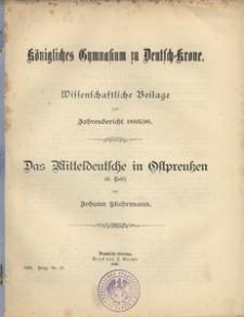 Königliches Gymnasium zu Dt. Krone. Schuljahr 1895/96. Zweiundvierzigster Jahresbericht erstattet vom Direktor des Gymnasiums
