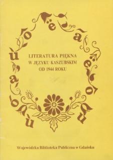 Literatura piękna w języku kaszubskim od 1944 roku