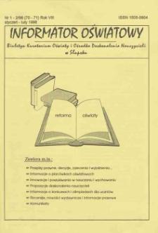Informator Oświatowy, 1998, nr 1/2