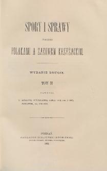 Spory i sprawy pomiędzy Polakami a Zakonem Krzyżackim = Lites ac Res Gestae inter Polonos Ordinemque Cruciferorum. T. 2