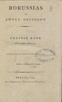 Borussias in Zwölf Gesängen. T. 2, VII-XII Gesang