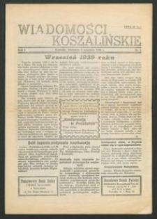 Wiadomości Koszalińskie. Nr 1/1945
