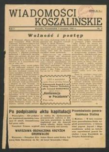 Wiadomości Koszalińskie. Nr 2/1945