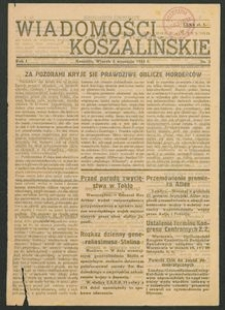 Wiadomości Koszalińskie. Nr 3/1945