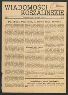 Wiadomości Koszalińskie. Nr 4/1945