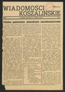 Wiadomości Koszalińskie. Nr 8/1945