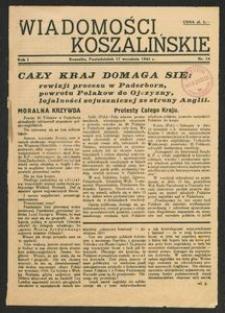 Wiadomości Koszalińskie. Nr 14/1945