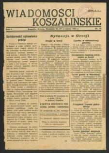 Wiadomości Koszalińskie. Nr 18/1945