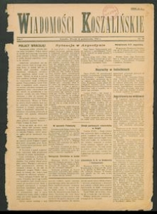 Wiadomości Koszalińskie. Nr 30/1945
