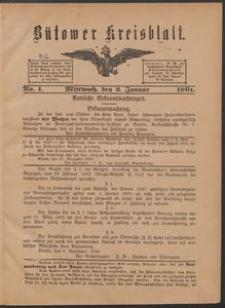 Bütower Kreisblatt 1901