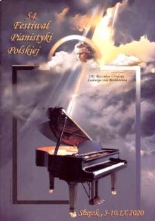 54. Festiwal Pianistyki Polskiej w Słupsku 5-10 wrzesnia 2020
