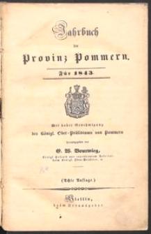 Jahrbuch der Provinz Pommern für 1843