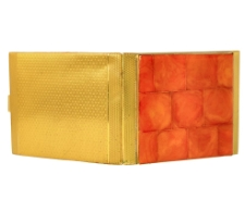 Cigarette case decorated with amber