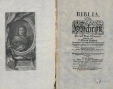 Biblia, das ist die gantze Schrifft Altes und Neues Testaments, Verdeutsch durch D. Martin Luthers... mit einer Vorrede Herrn D. Joachim Wieckmanns