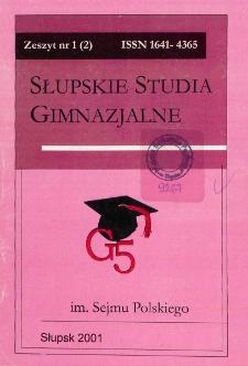 Słupskie Studia Gimnazjalne, nr 1 (2)
