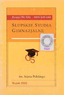 Słupskie Studia Gimnazjalne, nr 1 (4)
