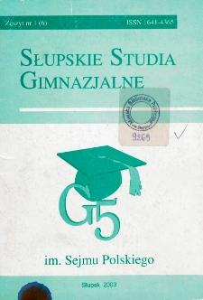 Słupskie Studia Gimnazjalne, nr 1 (6)