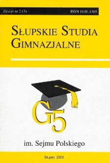 Słupskie Studia Gimnazjalne, nr 2 (7)