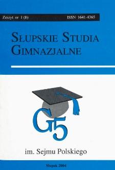 Słupskie Studia Gimnazjalne, nr 1 (8)