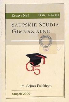 Słupskie Studia Gimnazjalne, nr 1