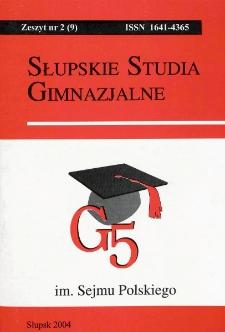 Słupskie Studia Gimnazjalne, nr 2 (9)