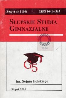 Słupskie Studia Gimnazjalne, nr 1 (10)