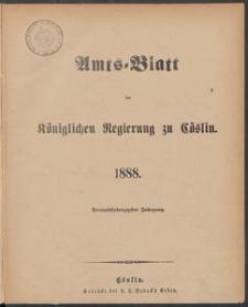 Amts-Blatt der Königlichen Regierung zu Cöslin 1888