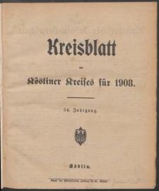 Kreisblatt des Kösliner Kreises 1908