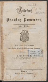 Jahrbuch der Provinz Pommern 1834