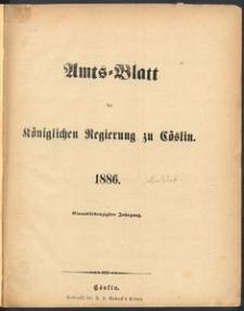 Amts-Blatt der Königlichen Regierung zu Cöslin 1886