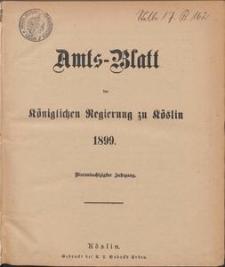 Amts-Blatt der Königlichen Regierung zu Köslin 1899