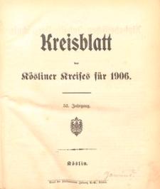 Kreisblatt des Kösliner Kreises 1906