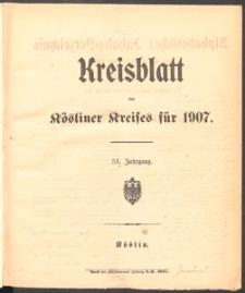 Kreisblatt des Kösliner Kreises 1907