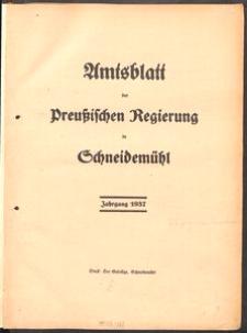 Amtsblatt der Preuβischen Regierung in Schneidemühl 1937, 1938