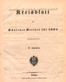 Kreisblatt des Cösliner Kreises 1883