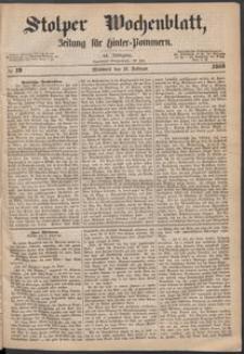 Stolper Wochenblatt. Zeitung für Hinterpommern № 19