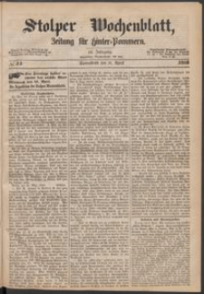 Stolper Wochenblatt. Zeitung für Hinterpommern № 44