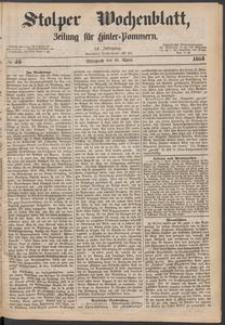 Stolper Wochenblatt. Zeitung für Hinterpommern № 45