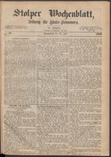 Stolper Wochenblatt. Zeitung für Hinterpommern № 87