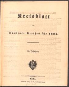 Kreisblatt des Cösliner Kreises 1884