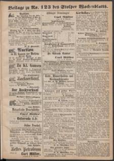 Beilage zu № 123 des Stolper Wochenblatt