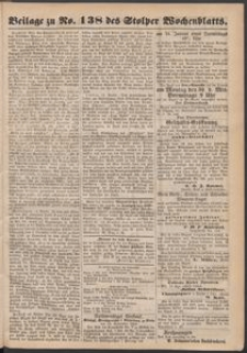 Beilage zu № 138 des Stolper Wochenblatt