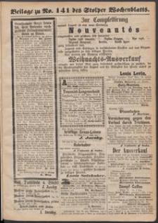 Beilage zu № 141 des Stolper Wochenblatt
