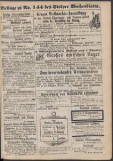 Beilage zu № 144 des Stolper Wochenblatt