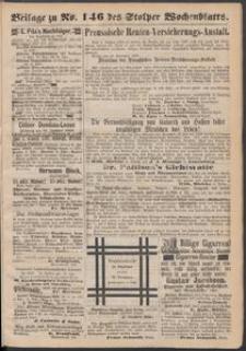 Beilage zu № 146 des Stolper Wochenblatt