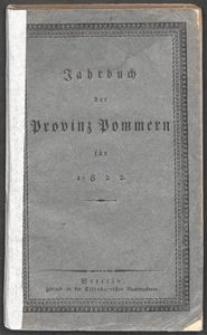 Jahrbuch der Provinz Pommern 1822