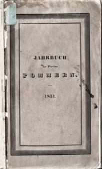 Jahrbuch der Provinz Pommern 1831